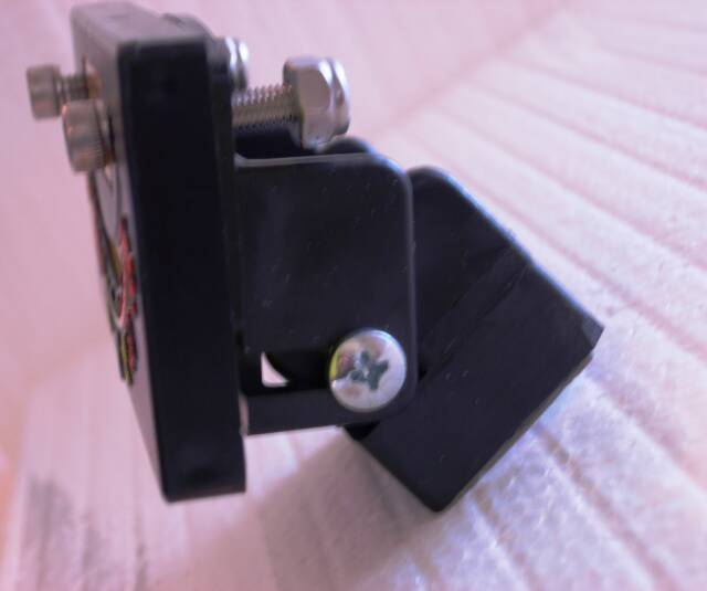 Side view of Model #45 mounting bracket